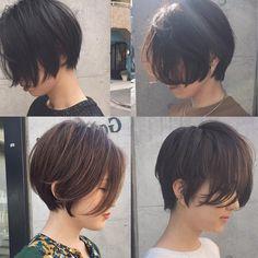 ショートボブヘアカタログ・紺野 善仙さんはInstagramを利用しています:「前下がりショート🌫髪で雰囲気をつくる✂︎ #紺野ショート #前下がりショート…」