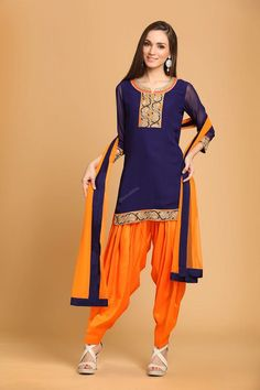 Andaaz Fashion present new arrival designer Blue Georgette Patiala Suit with price $69.38.Embelished with Embroidered,Resham,Zari, and with Patiala kameez colour is Navy blue. These dresses is perfect for Party,Wedding,Festival,Ceremonial. (Slight variation in color and patch border is possible) in Oklahoma City US.   http://www.andaazfashion.us/blue-georgette-patiala-suit.html