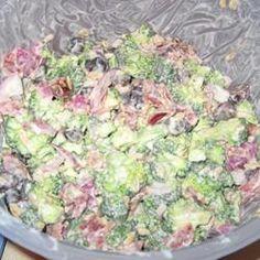 Alyson's Broccoli Salad ... very basic, good recipe