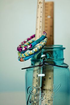 fabric covered braclets