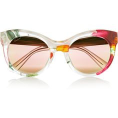 Gucci Cat-eye printed acetate and metal mirrored sunglasses (1.395 RON) ❤ liked on Polyvore featuring accessories, eyewear, sunglasses, glasses, sunnies, gold, cateye glasses, mirror sunglasses, print sunglasses and colorful mirrored sunglasses