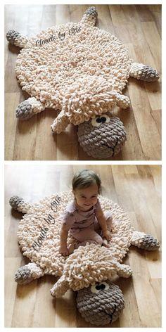 Crochet For Kids, Easy Crochet, Crochet Baby, Finger Crochet, Crochet Sheep Free Pattern, Crochet Blanket Patterns, Crochet Crafts, Crochet Projects, Crochet Leg Warmers