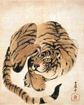 長沢芦雪 Rosetsu Nagasawa『虎図』