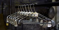 hangers made from golf clubs