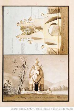 [La porte de la chasse du Prince et l'étable] : [dessin] / Jn Jque Lequeu inv. et delin. - 1