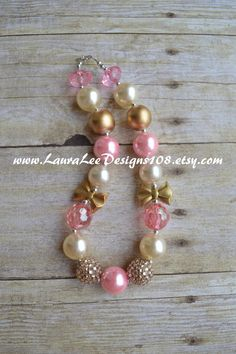 READY TO SHIP Light Pink Cream and Gold by LauraLeeDesigns108