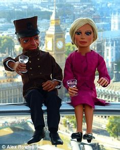 The Thunderbirds star was joined by her chauffeur Parker in London as she promoted Filmed in Supermarionation, a new documentary about Thunderbirds creator Gerry Anderson. Thunderbirds Are Go, British Actors, American Actors, Douglas Booth, Best Series, Tv Series, Jonathan Scott, Madame Tussauds, Favorite Cartoon Character