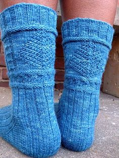Lighthouse Gansey Socks - Winter 2007  #knit #free_pattern