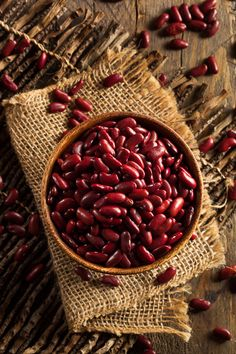 Raw Red Organic Kidney Beans - Raw Red Organic Kidney Beans in a Bowl