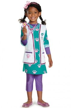 #88095 This Halloween, it's Doc McStuffins to the rescue! Dress your daughter as her favorite character while she rescues sick toys and brings them back to their health. With this fun costume, she'll