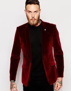 2017 new costume homme Groomsmen Notch Lapel Groom Tuxedos Velvet Red Jacket With Black Pants Mens Suits Wedding Best Men Suit. Prom Suits For Men, Best Suits For Men, Mens Suits, Red Velvet Suit, Black Velvet Blazer, Red Suit, Red Tuxedo, Groom Tuxedo, Party Suits