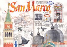Travel Journal-Art Diary-Eclectic Design| Serafini Amelia| San Marco, Venice by Joaquin Gonzalez Dorao
