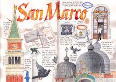 Travel Journal-Art Diary-Eclectic Design  Serafini Amelia  San Marco, Venice by Joaquin Gonzalez Dorao