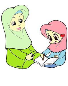 33++ Gambar Kartun Anak Perempuan Mengaji - Kumpulan ...