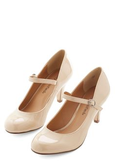 Talk of the Office Heel in Taupe | Mod Retro Vintage Heels | ModCloth.com