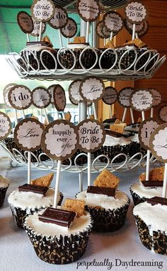 Country Bridal Shower Cupcakes