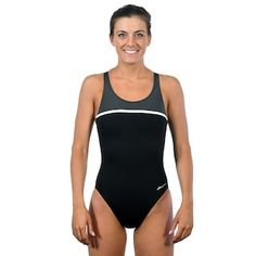 73b35208f4ea Women's Dolfin Ocean Panel High Performance Colorblock One-Piece Swimsuit  One Piece Swimsuit, Color