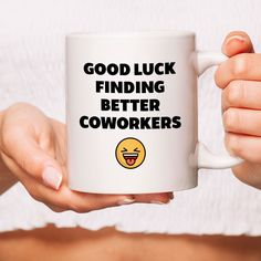 Goodluck Funny Coworker Mugs, Goodbye Leaving Farewell, Going Away Gifts, Co-worker Leaving, Co Work Gift For Coworker Leaving, Goodbye Gifts For Coworkers, Farewell Gift For Coworker, Leaving Gifts, Farewell Gifts, Goodbye Quotes For Coworkers, Farewell Cake, Leaving Party, Leaving Work