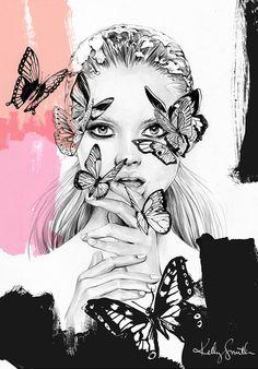 Illustrations de mode et beauté par Kelly Smith