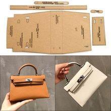 Online Shop 1 Set Of Leather Craft Men's Clutch Bag Business Storage Bag Sewing Pattern Hard Kraft Paper Stencil Template