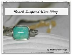 Beach Inspired Wire Ring Tutorial