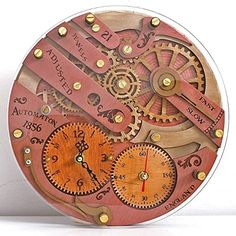 Chronomaton 1856 Unique Vintage Wooden Wall Clock, Person.