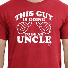 Uncle Mens T-shirt Pregnancy announcement This Guy is Going To Be an uncle Family shirt new Baby tshirt Christmas on Etsy, $13.95
