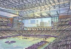 Idea sketch of new Vikings Stadium!!