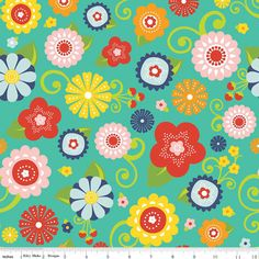 Hey, I found this really awesome Etsy listing at https://www.etsy.com/listing/183527885/fabric-lazy-day-floral-main-print-in