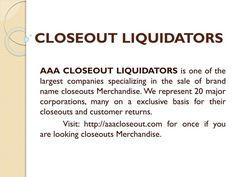 Closeout Liquidators|Wholesalers Liquidators|Overstock Buyers