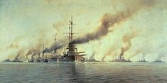 Artist's impression of the Battle of Jutland during the First World War. Kaiser Karl, Kaiser Franz, Austro Hungarian, Great Paintings, Any Images, First World, World War, Battle, Military