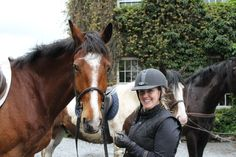 Starlight and Meaghan. Wild Atlantic Way, Galway Ireland, Trek, Riding Helmets, Castle, Horses, Horse, Palace