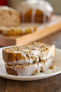 Gingerbread Loaf with Lemon Glaze from Pinch of Yum