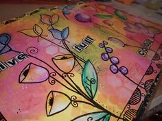 Art Journal Page - Live Full Colour (mixed Media)