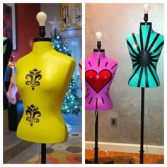 Recycled dress forms and upcycled into artsy lamps!  Are you inspired by these mannequin lamps? MannequinMadness.com sells new and used mannequins so you can create your own mannequin lamp.