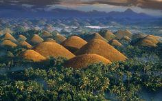 Philippines, Chocolate Hills at sunrise: