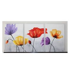 dibujos de flores para pintar en acrilico - Buscar con Google Acrylic Painting Canvas, Canvas Art, Painting & Drawing, Watercolor Paintings, 3 Piece Art, Altered Canvas, Autumn Painting, Large Wall Art, Printable Art