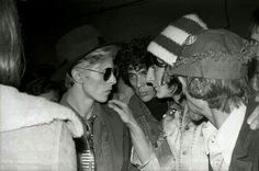 David with Geoffrey McCormack and Ron Wood 1975