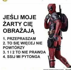 Polish Memes, Man Humor, Marvel Dc, Deadpool, Sick, Haha, Biker, Fandom, Superhero