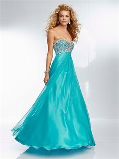 A-line Sweetheart Beadings Open Back Long Chiffon Prom Dress PD1128
