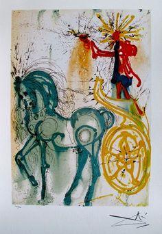 Salvador Dali Dalinean Horse LE CHEVAL DE TRIOMPHE Limited Ed. Lithograph List Price $490