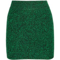T by Alexander Wang Knitted mini skirt ($190) ❤ liked on Polyvore