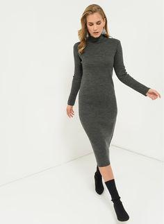 02606c3010bcc People by Fabrika Ürünleri Online Satış. Boğazlı Triko Elbise