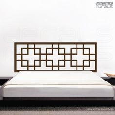 Decal headboard OVERLAPPING SQUARES Wall art decor stickers by Decals Murals (King). via Etsy.
