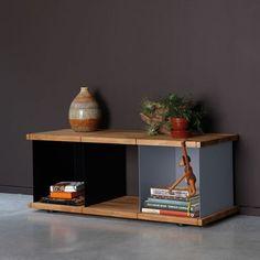 Etagère basse design métal et bois Yu : Etagere Konstantin Slawinski chez Pure Deco