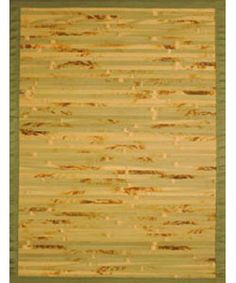 @Overstock.com - Handmade Variegated Bamboo Rug (5' x 7') - Add a splash of color to your home decor with this casual area rug Rug is handmade in China from 100-percent natural bamboo This area rug features natural, brown, sage and olive with an olive border  http://www.overstock.com/Home-Garden/Handmade-Variegated-Bamboo-Rug-5-x-7/3036318/product.html?CID=214117 $73.39