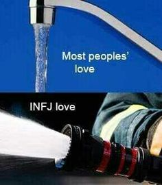 """INFJ Love...""""Aaaannnnnd that's why we put our guard up. Haha."""""""