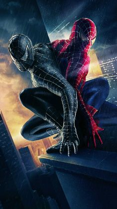 Spider-man 3 Movie Poster by Vox and Associates Black Spiderman, Amazing Spiderman, Spiderman Kunst, Spiderman Pictures, Spiderman 3 Wallpaper, Man Wallpaper, Avengers Wallpaper, Marvel Heroes, Marvel Comics