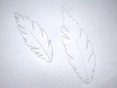 motif plume pour plastique fou