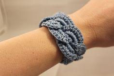 Crochet Bracelet Infinity Link Cuff Crochet Jewlery by OnTheHook, $16.00